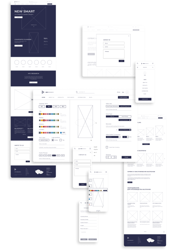 wireframes mobile 1 - HPC Research